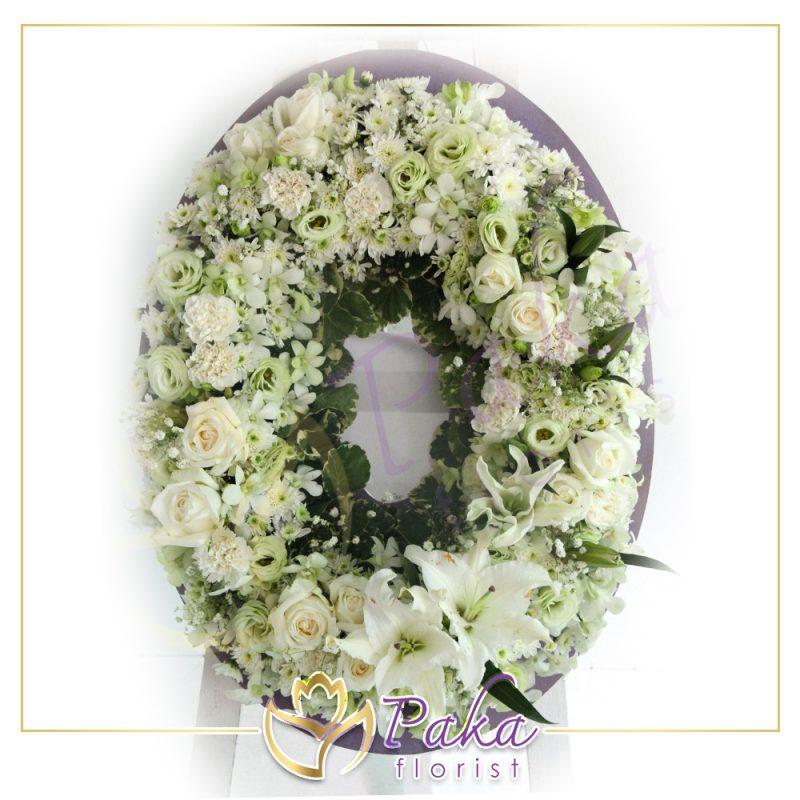 พวงมาลา พวงมาลัย รับจัดพวงหรีดดอกไม้สด พวงหรีดดอกไม้สด